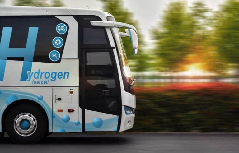Zu sehen ist ein Wasserstoff-Bus