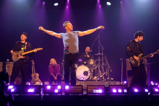 Coldplay bei einem Auftritt
