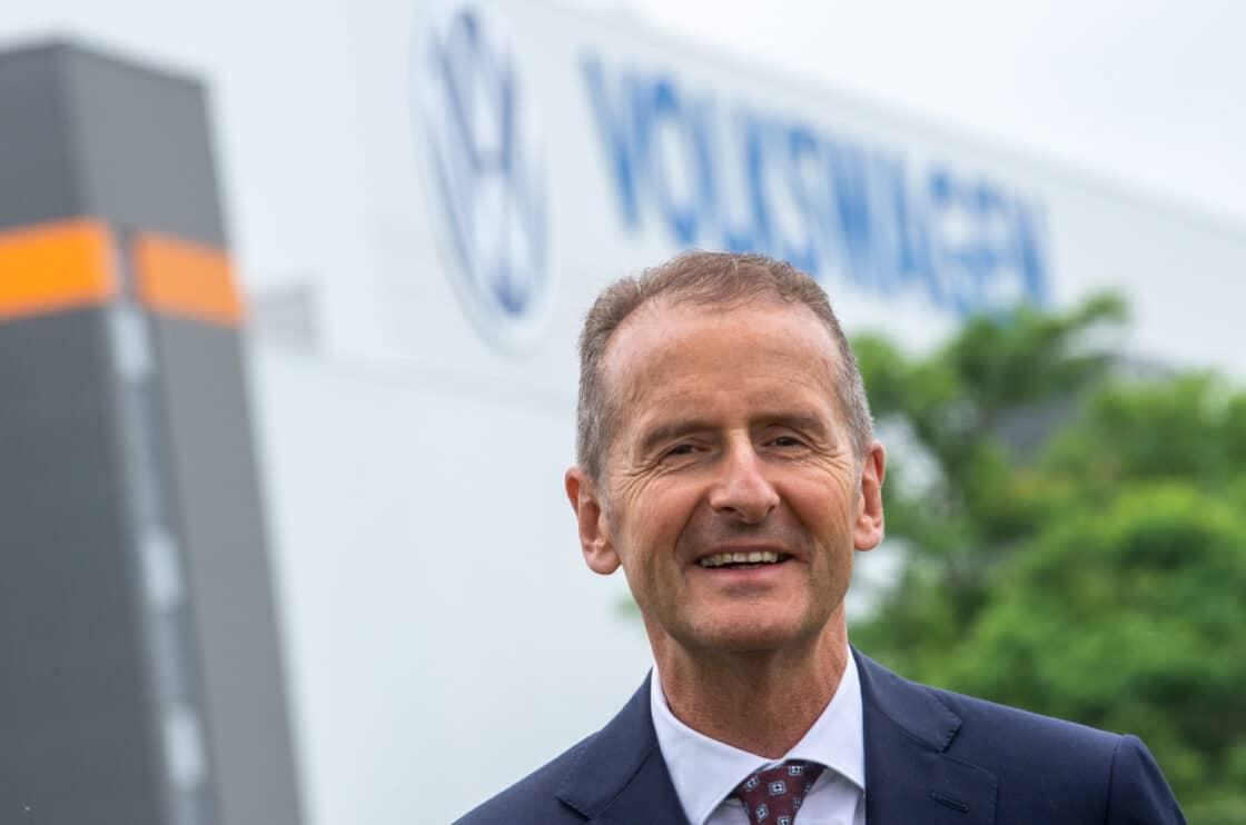 Zu sehen ist der VW-Konzernchef Herbert Diess
